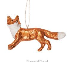 running fox ornament copper collector ornaments