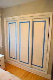 Decorative Sliding Closet Doors Painting Sliding Closet Doors Home Interior Design