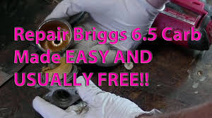 how to clean carburetor on 6 5 briggs the easy way youtube