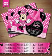 red minnie mouse birthday invitation printable baby