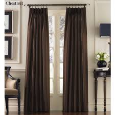 how to hang pencil pleat curtains with hooks marquee flared faux silk pinch pleat curtain panels