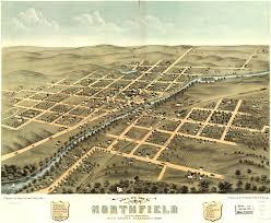 Aerial Map Of Chicago by Birdseye View Of Northfield Minnesota U2013 1869