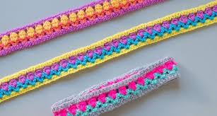 crocheted headbands tulip stitch crocheted headbands free crochet pattern