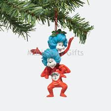 thing one and thing two ornament dr seuss figurines one price