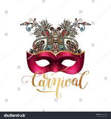 3d venetian carnival mask silhouette ornamental stock vector