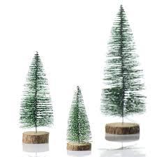 christmas tree artificial bottle brush tree desk christmas