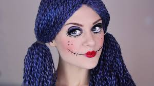 scary doll make up tutorial for halloween youtube