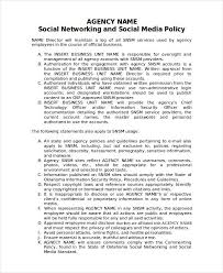 social media policy template u2013 8 free word pdf document in