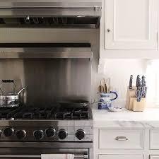 Stainless Steel Gas Range Design Ideas - Stainless steel cooktop backsplash