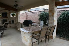 Outdoor Kitchen Covered Patio Fort Worth Covered Patio With Pergola Outdoor Kitchen And Outdoor