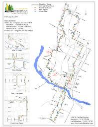 Austin Marathon Map by Gosia Mirkowicz Marathon Runner