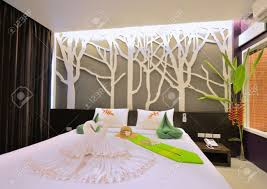 luxury bedroom interior design for modern life style stock photo