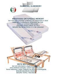 materasso memory silver 2 reti elettriche ammortizzate 2 materassi memory silver 2 guanciali