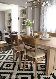 Living And Dining Room Furniture Reveal Orc Week 6 Combined Living Dining Makeover Pink