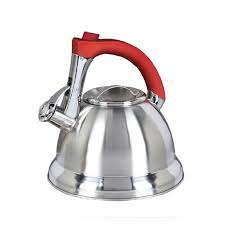 mr coffee 97095653m 2 4 quart stainless steel tea kettle with red