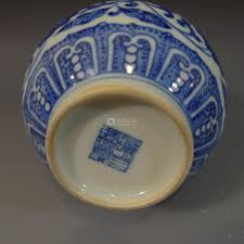 Blue And White Vases Antique Antique Chinese Blue White Porcelain Vase Qianlong Mark Republic