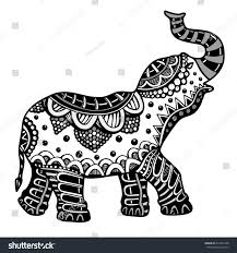 doodle indian indian elephant doodle indian stock vector 417242158