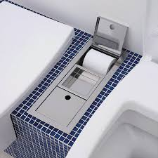diy niche for recessed toilet paper holder chrome u2014 the decoras