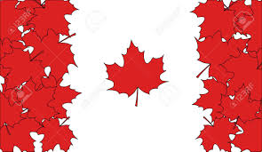 National Flag Of Canada Day Flag Of Canada Made Of Red Maple Leaves Royalty Free Cliparts