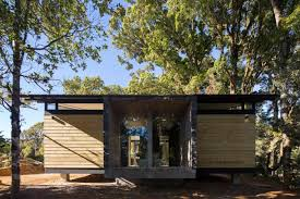 Contemporary Cabin Efc Contemporary Cabin In A Small Forest Of Oak Trees Designed By