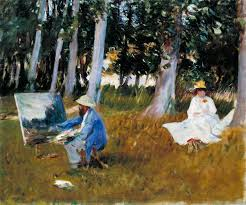 wood painting claude monet painting by the edge of a wood singer sargent