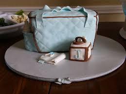 baby shower diaper bag cake 3d blue u0026 brown cakecentral com