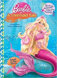 barbie mermaid tale panorama sticker storybook justine
