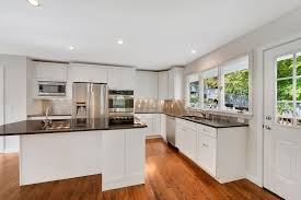 Stainless Steel Kitchen Furniture by White Cabinet Steel Gray Granite Counter Top Stainless Steel 2