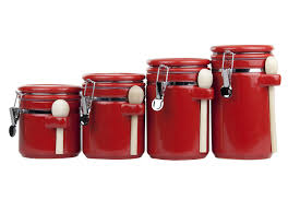 28 red kitchen canister sets ceramic red ceramic canister red kitchen canister sets ceramic home basics 4pc ceramic canister set w spoon red ebay