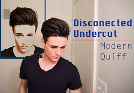 different undercut hairstyles disconnected undercut modern quiff how i style it youtube