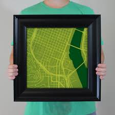 Portland State University Map by Portland State University Campus Map Art City Prints