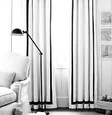 Black Linen Curtains Linen Drapes With Grosgrain Ribbon Trim Pair Linen Curtains Etsy