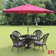 Patio Table Parasol by 8ft Parasol Patio Table Outdoor Sun Shade Umbrella Market Yard