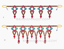 free pattern for necklace snow white 2 u need pearl