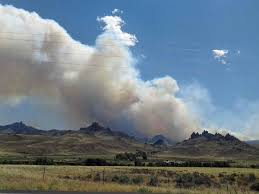 Whit The Spread Of The Whit Fire West Of Cody Wy Slows Wildfire Today
