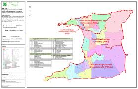 Trinidad And Tobago Map Geographic Area Of Responsibility Rural Development Company Of
