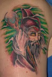 free wizard tattoo flash tribal tattoo flash designs gallery