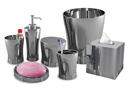 Amazon Com Nu Steel Bathroom Accessories Set 7 Piece Home U0026 Kitchen