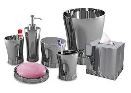designer bathroom accessories amazon com nu steel bathroom accessories set 7 piece home u0026 kitchen