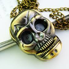 pocket watch necklace wholesale images Wholesale antique pocket watch skull necklace watch best gift for jpg