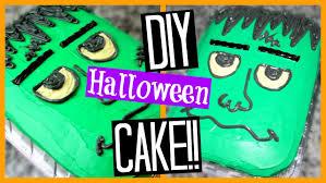 diy halloween cake frankenstein super easy youtube