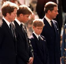 diana burial prince charles william harry and earl spencer at diana u0027s funeral
