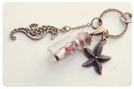 bottle necklace images Message in a bottle necklace glass bottle pendant with starfish jpg