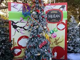 disney springs christmas tree trail adds character to a holiday