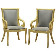 Bone Inlay Chair Pair Of Tessellated Neoclassical Style Bone Inlay Armchairs By