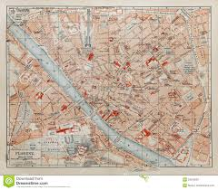 Street Map Of New York City by Vintage Map Of Florence Stock Photo Image 23055830