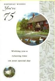 cym cards 75th birthday card published by