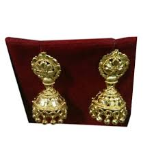 fancy jhumka earrings fancy gold plated jhumka earrings gold plated jhumka earrings