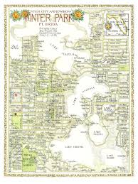Google Map Of Florida Winter Park Florida Map In Two Sizes Print From Original