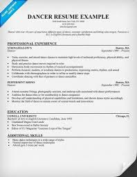dance resume for college best resume collection